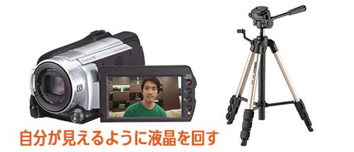 ビデオカメラと三脚